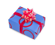 Gift box isolated over white. Stock Image