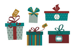 Gift box isolated present vector illustration. Royalty Free Stock Image