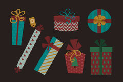 Gift box isolated present vector illustration. Stock Photos