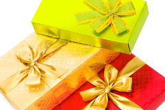 Gift box isolated on the white Royalty Free Stock Image