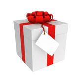 The gift box isolated on white Stock Image