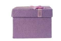 Gift box (isolated on white) Royalty Free Stock Images