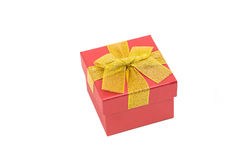 Gift box isolated on white Royalty Free Stock Photos