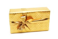 Gift box isolated on the white background. Gift box isolated on  the white background Royalty Free Stock Photo