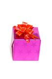 Gift box isolated on the white background. Gift box isolated  on the white background Royalty Free Stock Image