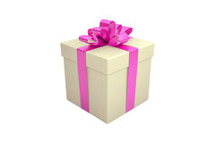 Gift box isolated on white Stock Photography
