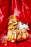 Gift box of Italian home made biscuits Stock Photos