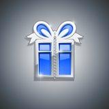 Gift box jewellery decoration Stock Photo