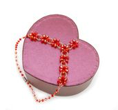 Gift box jewlery. Isolated girly things christmas holiday stock images