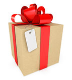 Gift box with label Stock Image