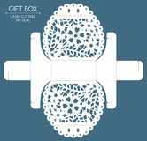 Gift box laser cut Royalty Free Stock Images
