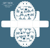 Gift box laser cut Stock Images