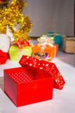 Gift box with lid Stock Photos