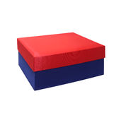 Gift box with lid on white background. Gift box with lid on white background Stock Images