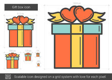 Gift box line icon. Royalty Free Stock Image