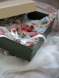 Gift box with lingerie Royalty Free Stock Photography