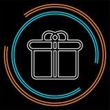Gift box logo for business company. stock illustration
