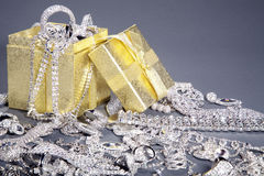 Gift box with lots of jewelery Royalty Free Stock Photography