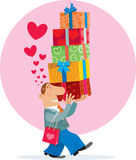 Gift Box and love Royalty Free Stock Image