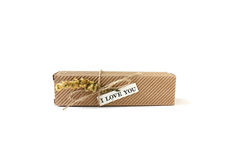 Gift box with a love note Stock Images