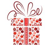 Gift box made of Christmas symbols Royalty Free Stock Photography