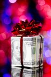 Gift box made of dollars Royalty Free Stock Photo