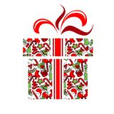 Gift Box Made Of Christmas Symbols Royalty Free Stock Photo