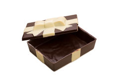 Gift box made of tasty mixed chocolate Stock Photos