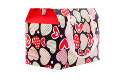 Gift box with many hearts Royalty Free Stock Images