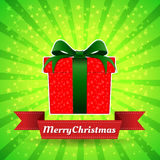 Gift box Merry Christmas. Royalty Free Stock Image