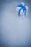 Gift box on metallic background copy space holidays concept Stock Image