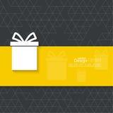 Gift box on a narrow banner Stock Photo
