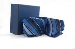 Gift box with necktie Royalty Free Stock Image
