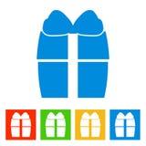 Gift box. New Year icon. Vector illustrationn royalty free illustration