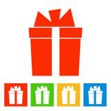 Gift box. New Year icon. Vector illustrationn vector illustration