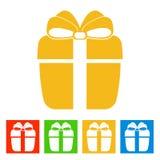 Gift box. New Year icon. Vector illustrationn stock illustration