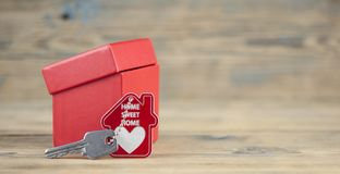 Gift Box On Wooden Table For Valentines Day Royalty Free Stock Images