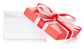 Gift box with an open cover Royalty Free Stock Photo