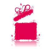Gift box open, present Royalty Free Stock Photography