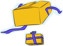Gift Box Open and Unopened Royalty Free Stock Images