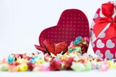 Gift box opened Stock Photo