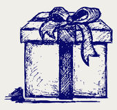 Gift box over Royalty Free Stock Photo