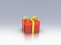 Gift box over background 3d illustration Stock Photos