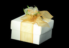 Gift box over black Royalty Free Stock Photography