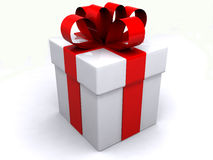 Gift box over white background Stock Photos