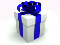Gift box over white background Stock Photos