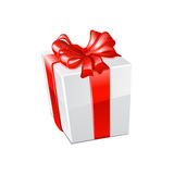 Gift box over white background. Vector Royalty Free Stock Photo