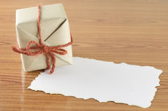 Gift box with paper Stock Images