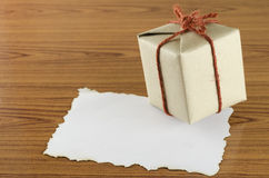 Gift box with paper Royalty Free Stock Image