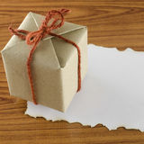 Gift box with paper Royalty Free Stock Photography